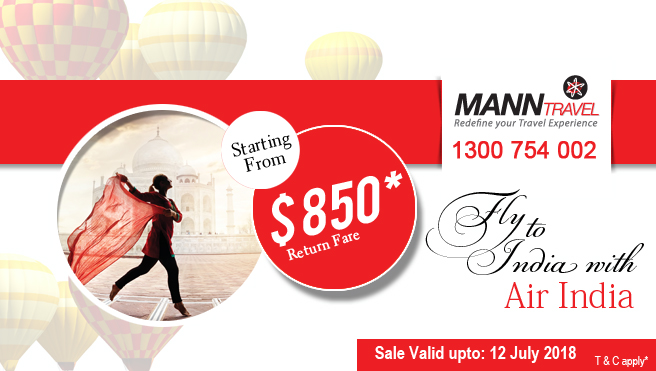 Fly to India, mann travel, air india