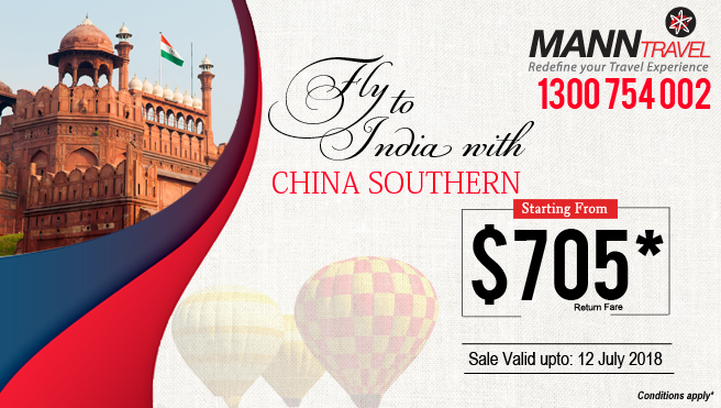 china southern fly to india, MannTravel