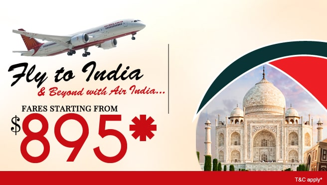 fly to india, air india