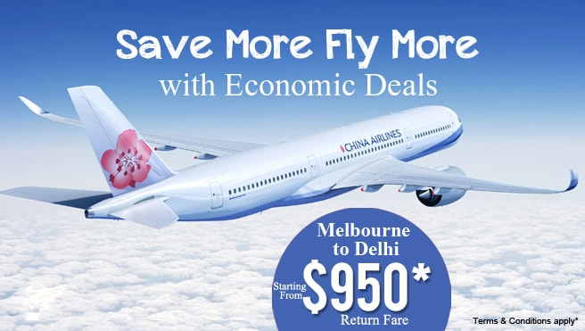 cheap flight from Melbourne to Delhi