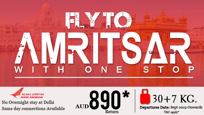 Fly to Amritsar