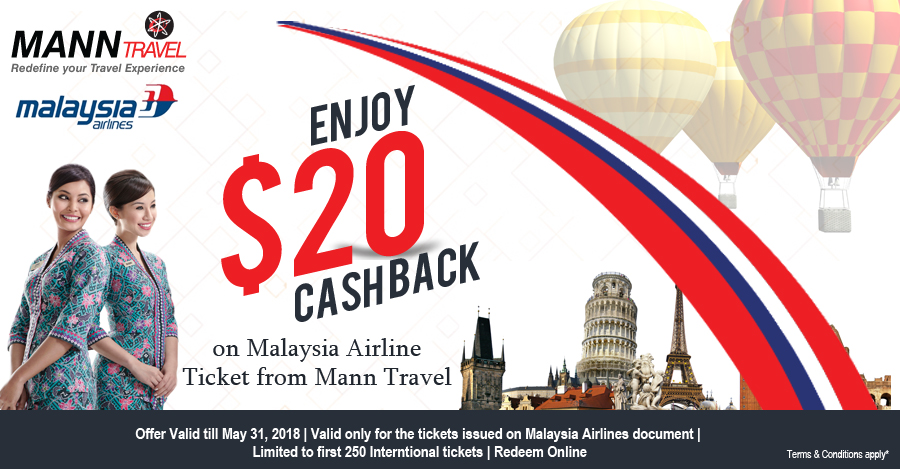 Manntravel, Malaysia Airlines, Best Offer, Cashback